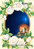 Randy, HOLY FAMILIES, HEILIGE FAMILIE, SAGRADA FAMÍLIA, paintings+++++Nativity-Framed-in-Roses,USRW122,#xr#