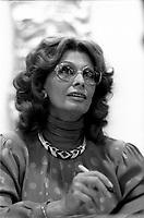 FILE PHOTO -  Seance d'autographes avec l'actrice Sophia Lorens le 17 septembre 1986<br /> <br /> <br /> PHOTO :   Agence quebec Presse