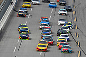 #22: Joey Logano, Team Penske, Ford Mustang Shell Pennzoil and #18: Kyle Busch, Joe Gibbs Racing, Toyota Camry M&M's Hazelnut