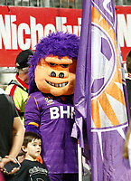 18th April 2021; HBF Park, Perth, Western Australia, Australia; A League Football, Perth Glory versus Wellington Phoenix; Perth Glory's mascot waits to take the field before the start of play