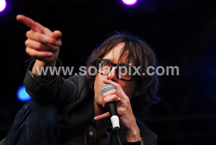 **ALL ROUND PICTURES FROM SOLARPIX.COM**.**WORLDWIDE SYNDICATION RIGHTS**.Day 1 of the Connect Music Festival, held in the grounds of Inveraray Castle, situated on the banks of one of Loch Fyne, Argyll, Scotland. Friday 31st August 2007..This pic: Jarvis Cocker..JOB REF: 4608 GRK    DATE: 31_08_2007.**MUST CREDIT SOLARPIX.COM OR DOUBLE FEE WILL BE CHARGED* *UNDER NO CIRCUMSTANCES IS THIS IMAGE TO BE REPRODUCED FOR ANY ONLINE EDITION WITHOUT PRIOR PERMISSION*
