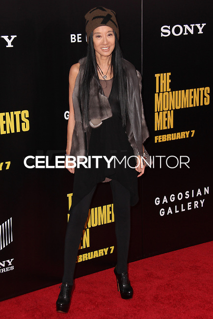 """NEW YORK, NY - FEBRUARY 04: Vera Wang at the New York Premiere Of Columbia Pictures' """"The Monuments Men"""" held at Ziegfeld Theater on February 4, 2014 in New York City, New York. (Photo by Jeffery Duran/Celebrity Monitor)"""