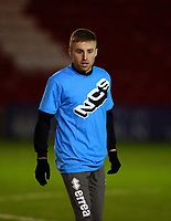 Lincoln City's Joe Morrell during the pre-match warm-up<br /> <br /> Photographer Andrew Vaughan/CameraSport<br /> <br /> The EFL Sky Bet League One - Lincoln City v Milton Keynes Dons - Tuesday 11th February 2020 - LNER Stadium - Lincoln<br /> <br /> World Copyright © 2020 CameraSport. All rights reserved. 43 Linden Ave. Countesthorpe. Leicester. England. LE8 5PG - Tel: +44 (0) 116 277 4147 - admin@camerasport.com - www.camerasport.com