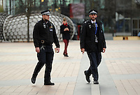 Metropolitan Police patrol the outside of The O2 during Day One of the Barclays ATP World Tour Finals 2015 played at The O2, London on November 15th 2015