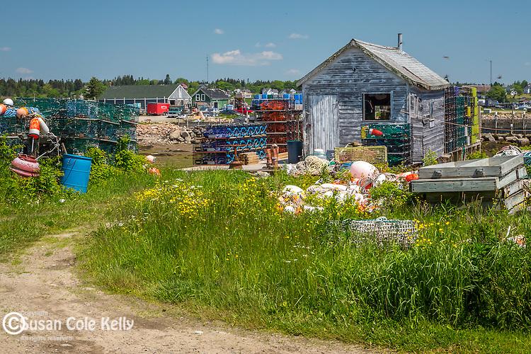 The fishing village on Beals Island, Beals, Maine, USA