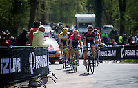 race leaders coming up the Loorberg with a 6 minute lead over the peloton<br /> <br /> 50th Amstel Gold Race 2015