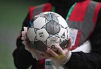 18th May 2020, WESERSTADION, Bremen, Germany; Bundesliga football, Werder Bremen versus Bayer Leverkusen; Ball-Hygiene as the game balls are cleaned by staff