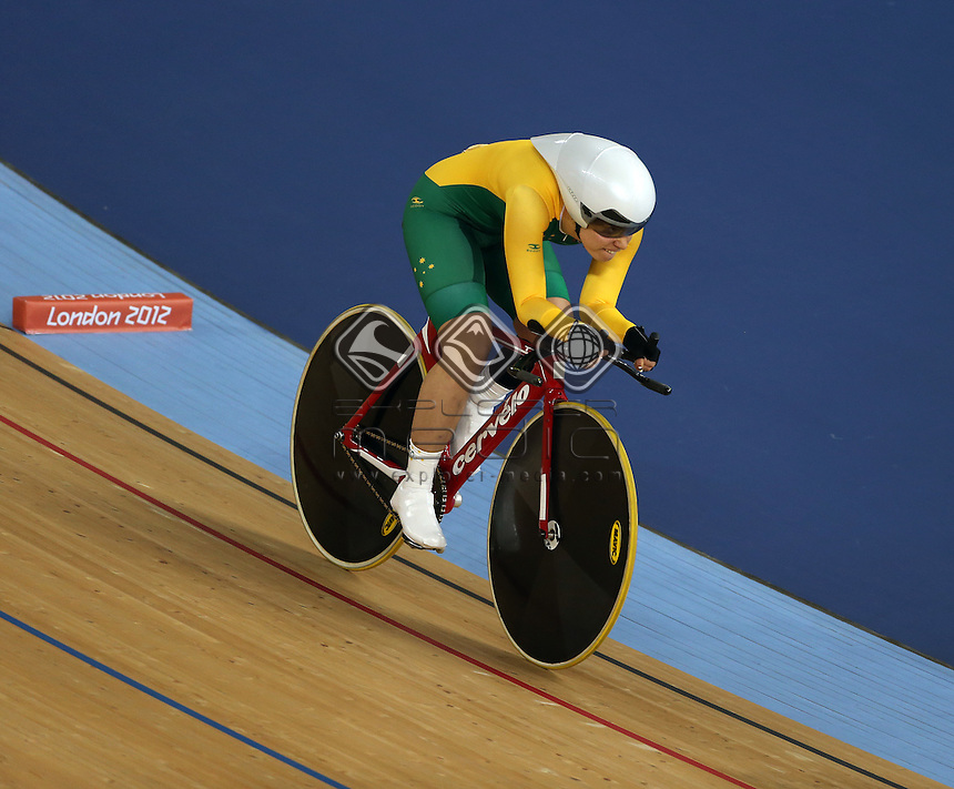 Simone Kennedy (AUS) competes in the Women's C4 Individual Pursuit.<br /> Track Cycling, Velodrome, Olympic Park (Thursday 29th Aug)<br /> Paralympics - Summer / London 2012<br /> London England 29 Aug - 9 Sept <br /> © Sport the library/Joseph Johnson
