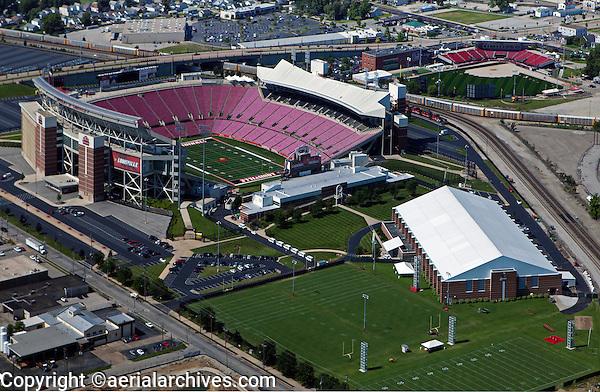 aerial photograph Papa John's Cardinal Stadium, Louisville, Kentucky