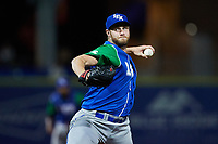 Lexington Legends relief pitcher Tony Cingrani (20) in action against the High Point Rockers at Truist Point on June 16, 2021, in High Point, North Carolina. The Legends defeated the Rockers 2-1. (Brian Westerholt/Four Seam Images)