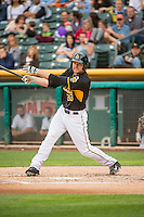 Roger Kieschnick (33) of the Salt Lake Bees at bat against the Oklahoma City Dodgers in Pacific Coast League action at Smith's Ballpark on May 27, 2015 in Salt Lake City, Utah.  (Stephen Smith/Four Seam Images)