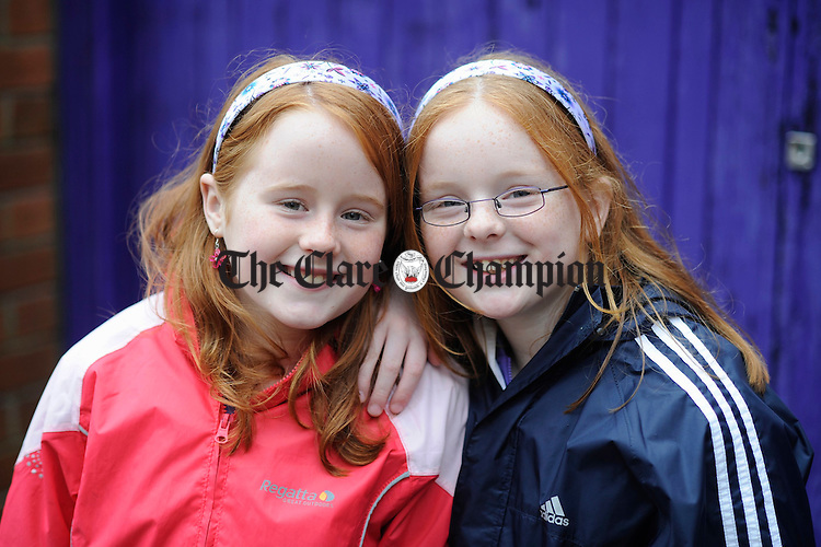 Twins Rebecca and Amy Keating. Photograph by John kelly.
