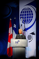 Christine Lagarde,<br /> Managing Director, International Monetary Fund (IMF)(M) receive today an honorary doctorate from Montreal University's rector GUY BRETON(R) as she attempt  <br /> attend the International Economic Forum of the Americas 20th Edition, from June 9-12, 2014.<br /> <br /> <br />  Photo : Agence Quebec Presse - Philippe Nguyen