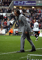 ATTENTION SPORTS PICTURE DESK<br /> Pictured: Paulo Sousa Manager of Swansea City in action <br /> Re: Coca Cola Championship, Swansea City Football Club v Cardiff City FC at the Liberty Stadium, Swansea, south Wales. Saturday 07 November 2009