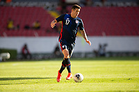 GUADALAJARA, MEXICO - MARCH 28: Aaron Herrera #17 of the United States moves towards the goal during a game between Honduras and USMNT U-23 at Estadio Jalisco on March 28, 2021 in Guadalajara, Mexico.