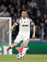 Juventus' Leonardo Bonucci in action during the Champions League round of 16 soccer match against Porto at Turin's Juventus Stadium, 14 March 2017. Juventus won 1-0 (3-0 on aggregate) to reach the quarter finals.<br /> UPDATE IMAGES PRESS/Isabella Bonotto