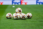 Official match balls are seen on the pitch prior to the UEFA Europa League 2017-18 Round of 16 (1st leg) match between Atletico de Madrid and FC Lokomotiv Moscow at Wanda Metropolitano  on March 08 2018 in Madrid, Spain. Photo by Diego Souto / Power Sport Images