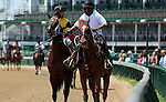 May 30, 2015  Commanding Curve and jockey Shaun Bridgmohan win the second race at Churchill Downs. Owner West Point Thoroughbreds, trainer Dallas Stewart. ©Mary M. Meek/ESW/CSM