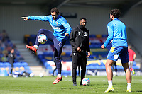 Cheye Alexander of AFC Wimbledon warms up ahead of kick-off during AFC Wimbledon vs Fleetwood Town, Sky Bet EFL League 1 Football at Plough Lane on 5th April 2021