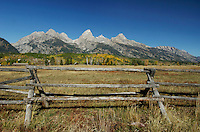 Teton Range and Fence, Grand Teton NP,Wyoming, September 2005