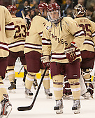 Teddy Doherty (BC - 4) - The Boston College Eagles defeated the Northeastern University Huskies 6-3 for their fourth consecutive Beanpot championship on Monday, February 11, 2013, at TD Garden in Boston, Massachusetts.
