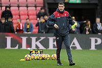 Swansea assistant coach during the Premier League match between Watford and Swansea City at the Vicarage Road, Watford, England, UK. Saturday 30 December 2017