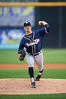 New Hampshire Fisher Cats starting pitcher Shane Dawson (23) during a game against the Harrisburg Senators on June 2, 2016 at FNB Field in Harrisburg, Pennsylvania.  New Hampshire defeated Harrisburg 2-1.  (Mike Janes/Four Seam Images)