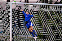 Baylor goalkeeper Michelle Kloss (8) attempts to make a save during first half of NCAA soccer game, Friday, October 03, 2014 in Waco, Tex. TCU and Baylor are tied 1-1 at the halftime. (Mo Khursheed/TFV Media via AP Images)
