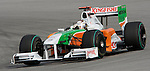 05 Apr 2009, Kuala Lumpur, Malaysia --- Force India F1 Team driver Adrian Sutil of Germany steers his car during the 2009 Fia Formula One Malasyan Grand Prix at the Sepang circuit near Kuala Lumpur. Photo by Victor Fraile --- Image by © Victor Fraile / The Power of Sport Images