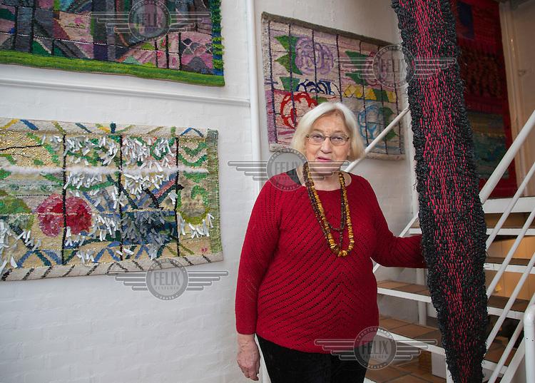 Brit Fuglevaag, Norwegian artist showing her work in Gallery Albin in Oslo.