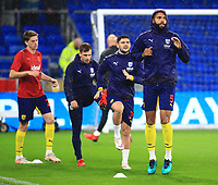 28th September 2021; Cardiff City Stadium, Cardiff, Wales;  EFL Championship football, Cardiff versus West Bromwich Albion; Kyle Bartley of West Bromwich Albion warms up before the game
