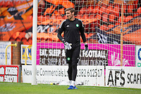 22nd August 2020; Tannadice Park, Dundee, Scotland; Scottish Premiership Football, Dundee United versus Celtic; Vasilios Barkas of Celtic during the warm up before the match