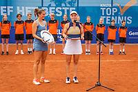 Amstelveen, Netherlands, 10 Juli, 2021, National Tennis Center, NTC, Amstelveen Womans Open, Doubles final: Suzan Lamens (NED) and Quirine Lemoine (NED) intervieuw after winning the tournament<br /> Photo: Henk Koster/tennisimages.com