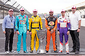 Toyota Monster Energy NASCAR Cup Series drivers who qualified for the 2019 Playoffs: Kyle Busch, Erik Jones, Martin Truex Jr and Denny Hamlin, with TRD and Toyota executives