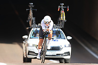 9th September 2021; Trento, Trentino–Alto Adige, Italy: 2021 UEC Road European Cycling Championships, Womens Individual time trials:  BRENNAUER Lisa (GER) finished 3rd in race