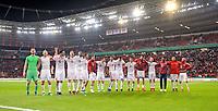 17.04.2018, Football DFB Pokal 2017/2018, semi final , Bayer Leverkusen - FC Bayern Muenchen, in BayArena Leverkusen. Laloa-Welle  celebration  Bayernspieler   dem 6:2 Sieg. *** Local Caption *** © pixathlon<br /> <br /> Contact: +49-40-22 63 02 60 , info@pixathlon.de