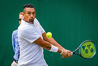 London, England, 5 th. July, 2018, Tennis,  Wimbledon, Men's singles, Nick Kyrgios (AUS)<br />