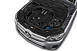 Car Stock 2018 Mercedes Benz GLS-Class GLS450 5 Door SUV Engine  high angle detail view