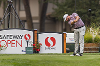 11th September 2020, Napa, California, USA;  Ben Taylor of England tees off during the second round of the Safeway Open PGA tournament on September 11, 2020 at Silverado Country Club in Napa, CA.