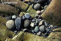 AC08-002z  Acadia National Park, Maine - various size rocks, ocean surf weathering