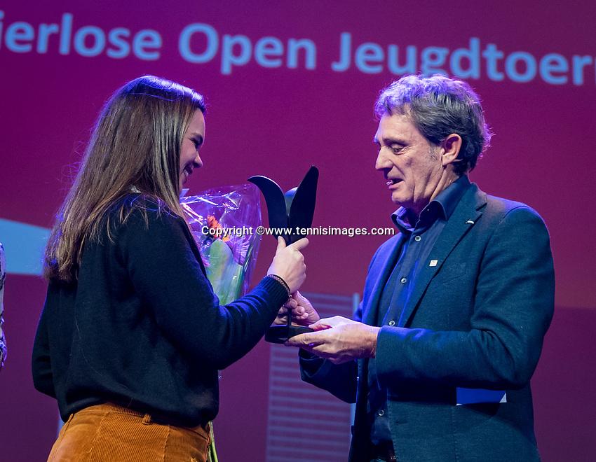 Nieuwegein, Netherlands, November 23,  2019, MBC Congrescentrum, KNLTB Year Congres , volunteer of the year election<br /> Photo: Tennisimages/Henk Koster