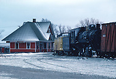 Marquette and Huron Mountain Railroad depot and steam engine in Marquette in Michigan's Upper Peninsula.