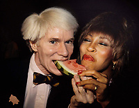 Andy Warhol & Tina Turner 1991 Photo by Adam Scull-PHOTOlink.net