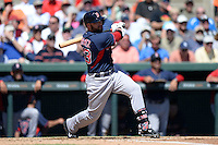 Boston Red Sox outfielder Bryce Brentz (73) during a spring training game against the Baltimore Orioles on March 8, 2014 at Ed Smith Stadium in Sarasota, Florida.  Baltimore defeated Boston 7-3.  (Mike Janes/Four Seam Images)