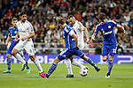 Real Madrid´s Benzema and Kehedira and Schakle 04 Howedes during Champions League soccer match at Santiago Bernabeu stadium in Madrid, Spain. March, 10, 2015. (ALTERPHOTOS/Caro Marin)