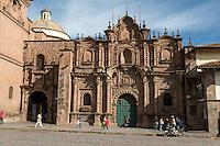Peru, Cusco.  Church of La Compania, 17th. Century Jesuit Church, Facing the Plaza de Armas.