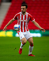 21st November 2020; Bet365 Stadium, Stoke, Staffordshire, England; English Football League Championship Football, Stoke City versus Huddersfield Town; Morgan Fox of Stoke City controls a loose ball