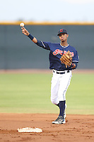Willi Castro #2 of the AZL Indians during a game against the AZL Angels at the Cleveland Indians Spring Training Complex on July 13, 2014 in Goodyear, Arizona. AZL Angels defeated the AZL Indians, 6-5. (Larry Goren/Four Seam Images)