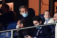 13th April 2021; Parc de Princes, Paris, France; UEFA Champions League football, quarter-final; Paris Saint Germain versus Bayern Munich;  Nicolas Sarkozy attends the match