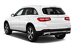 Car pictures of rear three quarter view of a 2018 Mercedes Benz GLC-Class 300 5 Door SUV angular rear
